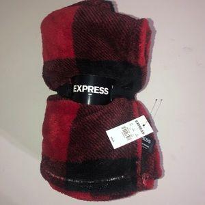 Express Red & Black Plaid throw blanket